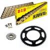 Sprockets & Chain Kit DID 520VX3 Gold & Black APRILIA ETX 350 Wind 88-90