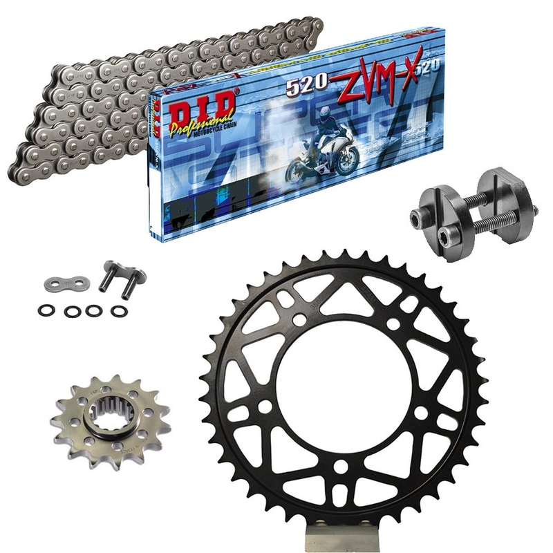 KIT DE TRANSMISION DID 520ZVMX ULTRALIGERO Super Reforzado GRIS ACERO APRILIA RSV 1000 R Conversion 520 Ultralight 04-09 REMACHA
