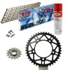 KIT DE TRANSMISION DID 520ZVMX ULTRALIGERO Super Reforzado PLATA APRILIA RSV 1000 R Conversion 520 Ultralight 04-09