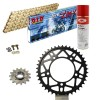 KIT DE TRANSMISION DID 520ZVMX ULTRALIGERO Super Reforzado ORO APRILIA RSV4 1000 RF Conversion 520 Ultralight 15-18