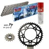 KIT DE TRANSMISION DID 520ZVMX ULTRALIGERO Super Reforzado GRIS ACERO APRILIA RSV4 1000 RR Conversion 520 Ultralight 16-18