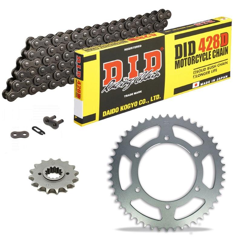Sprockets & Chain Kit DID 428HD Steel Grey DERBI GPR 125 Nude 04-08