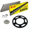 Sprockets & Chain Kit DID 520VX3 Steel Grey DERBI Mulhacen Café 659 09-12