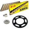 Sprockets & Chain Kit DID 520VX3 Gold & Black HONDA CBR 900 RR FireBlade Convesion 520 92-99