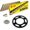 Sprockets & Chain Kit DID 520VX3 Gold & Black HONDA VT 125 Shadow 99-07