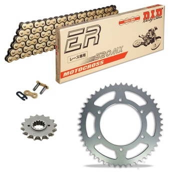 Sprockets & Chain Kit DID 520MX Gold HUSABERG 350 Enduro 92-95