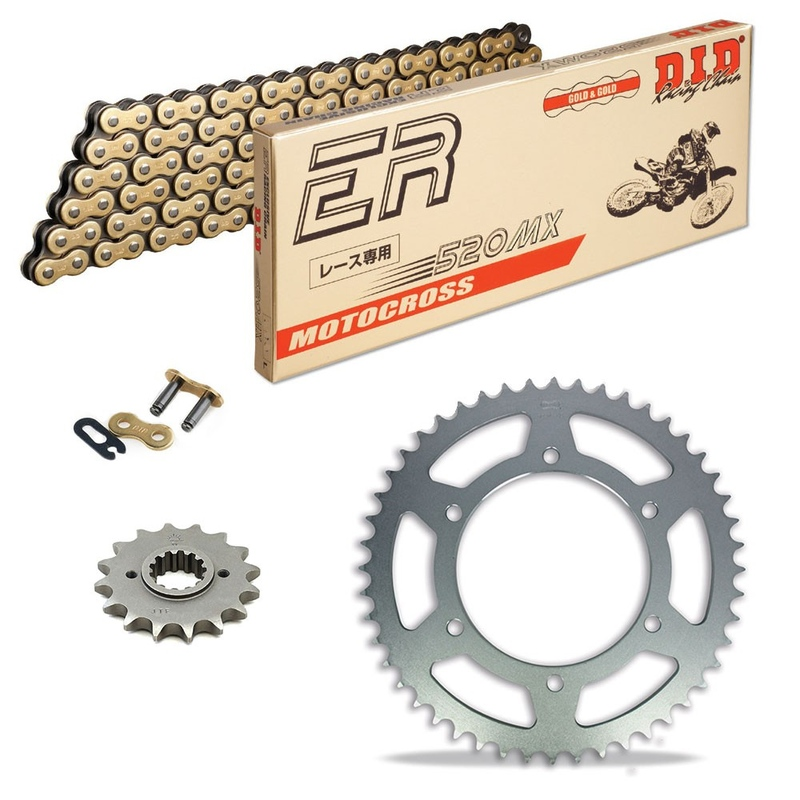Sprockets & Chain Kit DID 520MX Gold HUSABERG FC 501 6 Marchas 97-99