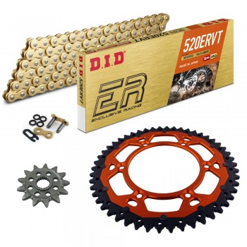Sprockets & Chain Kit DID 520ERVT Off Road MX KTM 125 SXS 01-02