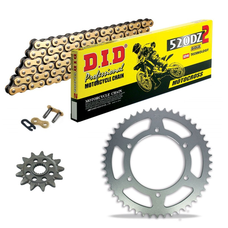 Sprockets & Chain Kit DID 520DZ2 MX Gold KTM EXC 450 03-20