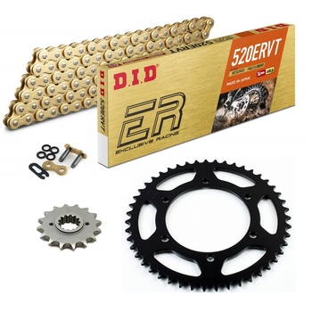 Sprockets & Chain Kit DID 520ERVT Gold APRILIA Pegaso 650 Cube 00