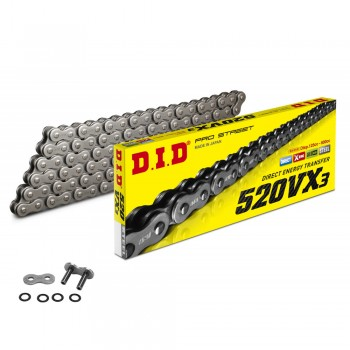 DID CHAIN 520 VX3 Pro Street Reinforced with X-RING
