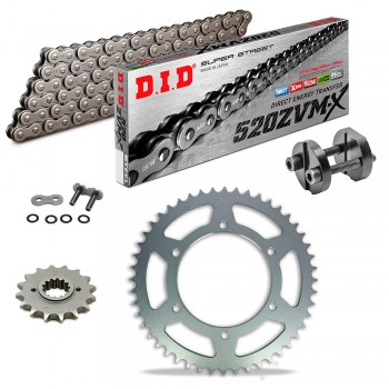 Sprockets & Chain Kit DID 520ZVM-X Steel Grey APRILIA AF1 125 Replica 88-92