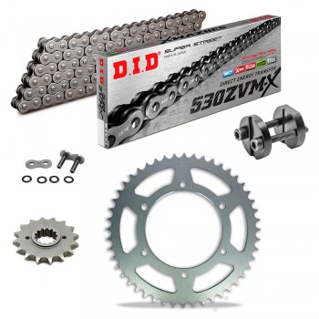 Sprockets & Chain Kit DID 530ZVM-X Steel Grey HARLEY Sportster 883 XLH 86-90
