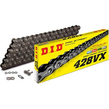 DID CHAIN 428 VX with X-RING Steel Gray