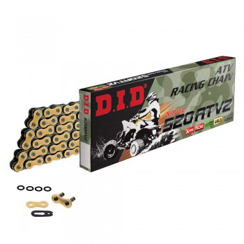 DID CHAIN 520 ATV2 with X-RING Gold