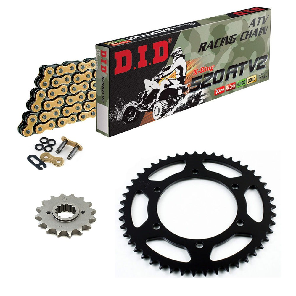 Primary Drive Steel Sprocket Kit Set /& O Ring Chain KAWASAKI MOJAVE 250 87-04