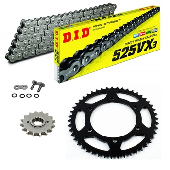 Sprockets & Chain Kit DID 525VX3 Gold & Black YAMAHA MT 07 TRACER 16-19
