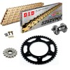 Sprockets & Chain Kit DID 525ZVM-X Steel Grey YAMAHA MT 07 TRACER 20 Free Riveter