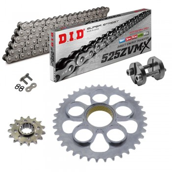 Sprockets & Chain Kit DID 525ZVM-X Steel Grey DUCATI STREETFIGHTER 1100 V4 20