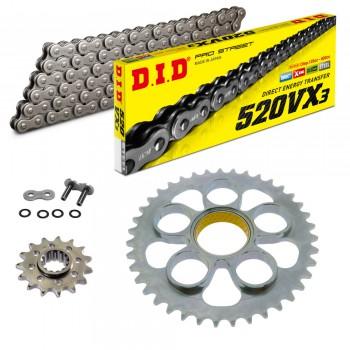 Sprockets & Chain Kit DID 520VX3 Steel Grey DUCATI Supersport 939 17-20
