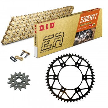 KIT DE TRANSMISION DID 520ERVT Acero SLK Reforzado  Enduro Racing KTM EXC 250 96-20