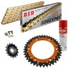 POWER KIT KTM DUKE 890 20 Piñon Engomado Corona Mixta Cadena Super Reforzada Oro
