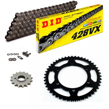 Sprockets & Chain Kit DID 428VX Gold KEEWAY TX 125 S 09-14