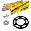 Sprockets & Chain Kit DID 428VX Gold KEEWAY TX 125 S 09-14