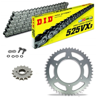 Sprockets & Chain Kit DID 525VX3 Gold & Black BENELLI BN 600 16-19