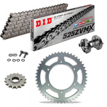Sprockets & Chain Kit DID 525ZVM-X Steel Grey BENELLI BN 600 16-19