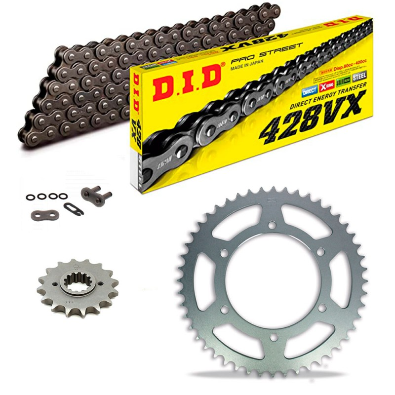 Sprockets & Chain Kit DID 428VX Steel Grey DAELIM Daystar VL 125 Fi 13-20